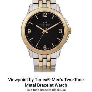 Viewpoint by Timex® Men's Two-Tone Metal Watch